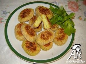 Croquetas de arroz al horno