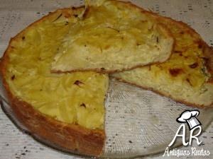Tarta de cebollas a la mostaza